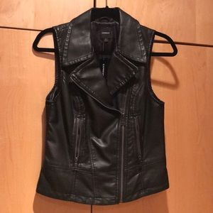 Express leather vest brand new